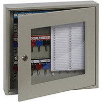 Phoenix Keysure KC0401K 30 Hook Clear View Key Cabinet with Key Lock Light Grey