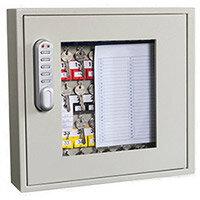 Phoenix Keysure KC0401E 40 Hook Clear View Key Cabinet with Electornic Code Lock Light Grey