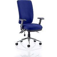 Chiro High Back Task Operator Office Chair Serene Blue