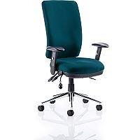 Chiro High Back Task Operator Office Chair Kingfisher Green