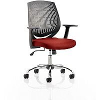 Dura Medium Back Task Operator Office Chair Chilli Red