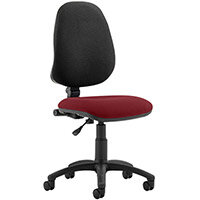 Eclipse I Lever Task Operator Office Chair Chilli Red Seat