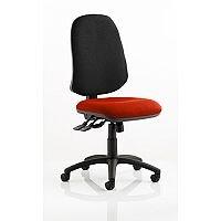Eclipse XL III Lever Task Operator Office Chair Pimento Rustic Orange Seat