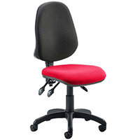 Eclipse III Lever Task Operator Office Chair Cherry Red Seat