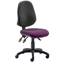Eclipse III Lever Task Operator Office Chair Purple Seat