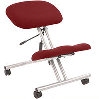 Kneeling Stool Silver Frame Chilli Red