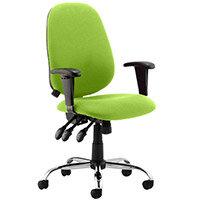 Lisbon High Back Task Operator Office Chair Swizzle Green