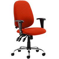 Lisbon High Back Task Operator Office Chair Pimento Rustic Orange