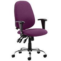 Lisbon High Back Task Operator Office Chair Purple