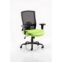 Portland HD - Heavy Duty - Mesh Back Task Operator Office Chair - Robust Frame, Large Seat & Back - Max Weight 32 Stone/203kg - Swizzle Green