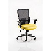 Portland HD - Heavy Duty - Mesh Back Task Operator Office Chair - Robust Frame, Large Seat & Back - Max Weight 32 Stone/203kg -  Sunset Yellow