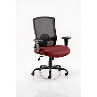 Portland HD - Heavy Duty - Mesh Back Task Operator Office Chair - Robust Frame, Large Seat & Back - Max Weight 32 Stone/203kg - Chilli Red