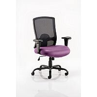 Portland HD - Heavy Duty - Mesh Back Task Operator Office Chair - Robust Frame, Large Seat & Back - Max Weight 32 Stone/203kg - Purple