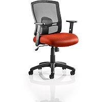 Portland Mesh Back Task Operator Office Chair Pimento Rustic Orange