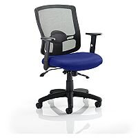Portland II Mesh Back Task Operator Office Chair Serene Blue