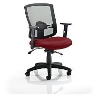 Portland II Mesh Back Task Operator Office Chair Chilli Red