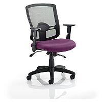 Portland II Mesh Back Task Operator Office Chair Purple