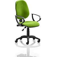 Eclipse I Lever Task Operator Office Chair With Loop Arms In Swizzle Green