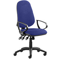 Eclipse III Lever Task Operator Office Chair With Loop Arms In Serene Blue