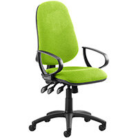 Eclipse III Lever Task Operator Office Chair With Loop Arms In Swizzle Green