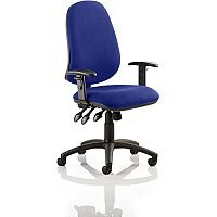 Eclipse XL III Lever Task Operator Office Chair With Height Adjustable Arms In Serene Blue