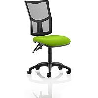 Eclipse II Lever Task Operator Office Chair Mesh Back With Swizzle Green Seat