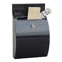Phoenix Curvo MB0112KB Top Loading Mail Box in Black with Key Lock Black