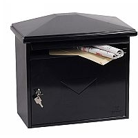 Phoenix Libro MB0115KB Front Loading Mail Box in Black with Key Lock Black