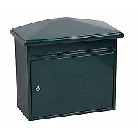 Phoenix Libro MB0115KG Front Loading Mail box in Green with Key Lock Green