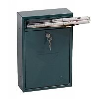Phoenix Letra MB0116KG Front Loading Mail Box in Green with Key Lock Green