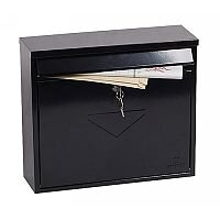 Phoenix Correo MB0118KB Front Loading Mail Box in Black with Key Lock Black