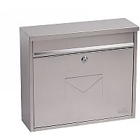 Phoenix Correo MB0118KS Front Loading Mail Box in Stainless Steel with Key Lock Stainless Steel