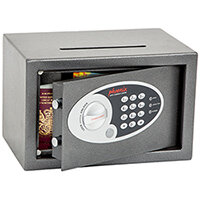 Phoenix Vela Deposit Home & Office SS0801ED Size 1 Security Safe with Electronic Lock Metalic Graphite 10L