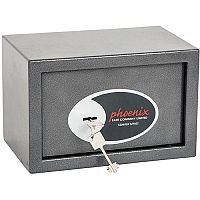 Phoenix Vela Home & Office SS0801K Size 1 Security Safe with Key Lock Metalic Graphite 10L