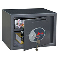 Phoenix Vela Deposit Home & Office SS0802KD Size 2 Security Safe with Key Lock Metalic Graphite 17L
