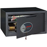 Phoenix Vela Deposit Home & Office SS0803KD Size 3 Security Safe with Key Lock Metalic Graphite 34L