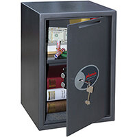 Phoenix Vela Deposit Home & Office SS0804KD Size 4 Security Safe with Key Lock Metalic Graphite 21L