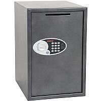 Phoenix Vela Deposit Home & Office SS0805ED Size 5 Security Safe with Electronic Lock Metalic Graphite 88L