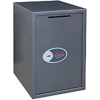 Phoenix Vela Deposit Home & Office SS0805KD Size 5 Security Safe with Key Lock Metalic Graphite 88L