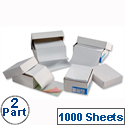 2 Part Listing Paper Plain Carbonless 368mm 1000 Sheets Challenge