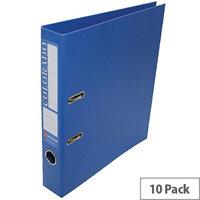 Rexel Colorado A4 Blue Mini Lever Arch File Plastic Pack 10