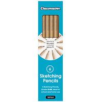 Classmaster Sketching Pencils Pack of 6 SKP6A