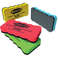 Show-me Magnetic Whiteboard Eraser Assorted Pack of 4 MWE4