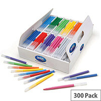 Swash Komfigrip Colouring Pens Fine Tip Assorted Pack 300