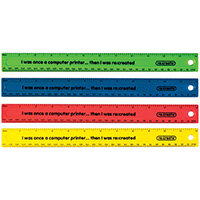 ReCreate Shatter Resistant Ruler 30cm Assorted Pack of 100 RCSPR30A