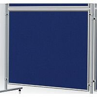 Double Sided Felt Notice Board 1200 x 1200mm Blue Franken Eco Partition System Module