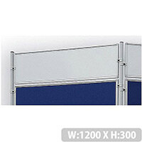 Double Sided Magnetic Whiteboard 1200 x 300mm Franken Eco Partition System Module