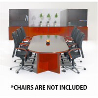 Corniche Executive Cherry Veneer Boardroom & Conference Room Table 8 - 10 Seater W2500xD1100xH720mm