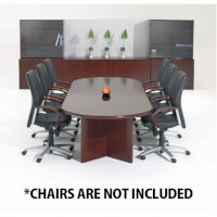 Corniche Executive Cherry Rosewood Veneer Boardroom & Conference Room Table 8 - 10 Seater W2500xD1100xH720mm