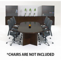 Corniche Executive Cherry Walnut Veneer Boardroom & Conference Room Table 8 - 10 Seater W2500xD1100xH720mm